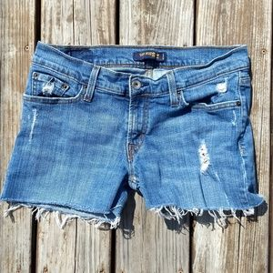 Distressed Levi's Cut-Off Shorts Size 9